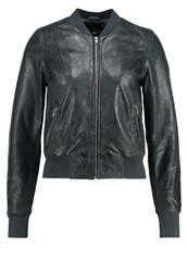 Freaky Nation Harlem Leather Jacket Anthra Dark Grey
