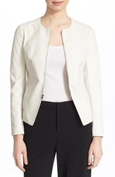 Women's Vince Tailored Leather Jacket Winter White