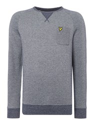 Lyle And Scott Men's Oxford Crew Neck Sweatshirt Navy