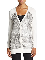 Haute Hippie Embellished V Neck Cardigan