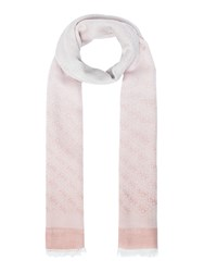 Guess All Over G Logo Long Scarf Pink