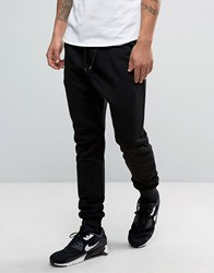 Your Turn Yourturn Skinny Drop Crotch Joggers In Black