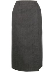Calvin Klein 205W39nyc Checked Wrap Skirt Grey