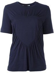 Love Moschino Gathered Front T Shirt Blue