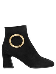 Roger Vivier 70Mm Round Buckle Suede Boots