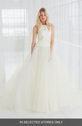 Amsale Women's Miller Faille And Tulle Ball Gown Silk White