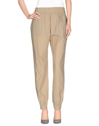 Dandg Trousers Casual Trousers Women Beige