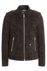 The Kooples Suede Jacket Brown