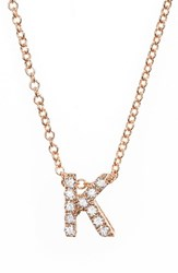 Bony Levy Women's Pave Diamond Initial Pendant Necklace Nordstrom Exclusive Rose Gold K