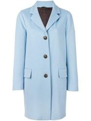 Alberto Biani Button Front Coat Blue