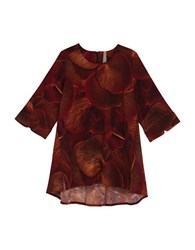 Melissa Mccarthy Seven7 Plus Three Quarter Sleeve Round Neck Blouse Pomegranate