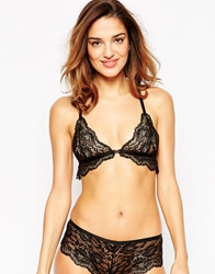 Asos Mary Kate Corded Lace Triangle Bra Black
