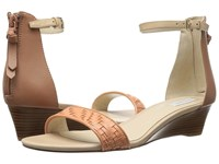 Cole Haan Genevieve Weave Wedge Nectar Genevieve Weave Mocha Mousse Leather Nude Leather Women's Shoes Orange
