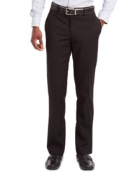 Kenneth Cole Reaction Flat Front Dress Pants Black