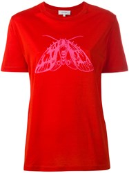 Carven Butterfly T Shirt Red