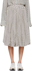 Sara Lanzi Off White And Black Polka Dot Balloon Skirt
