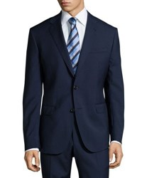 Neiman Marcus Modern Fit Two Piece Wool Suit Navy