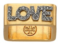 Tory Burch Message Ring Love Ring Tan