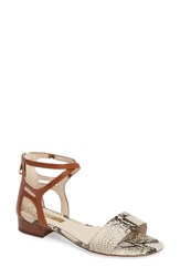 Louise Et Cie Women's Adley Ankle Strap Sandal Natural Print Leather
