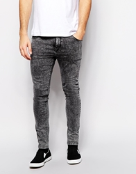 Asos Super Skinny Jeans In Acid Grey