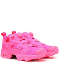 Vetements X Reebok Instapump Fury Sneakers Pink