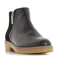 Dune Portland Crepe Sole Ankle Boots Black