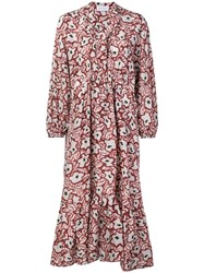 Christian Wijnants Dayam Floral Print Dress Red