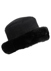 Dents Ladies Faux Suede Hat Black