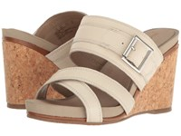 Hush Puppies Finola Montie Birch Leather Women's Wedge Shoes Tan