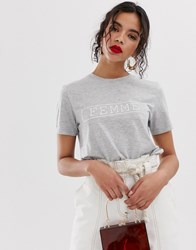 Selected Femme Slogan Tee Multi