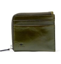 Il Bussetto Polished Leather Zip Around Wallet Green