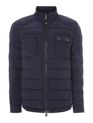 Duck And Cover Decode Quilted Jacket Dark Navy