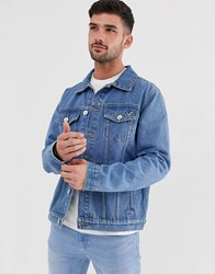 Voi Jeans Light Wash Denim Jacket Blue