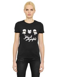 Karl Lagerfeld The Artist Cotton Jersey T Shirt