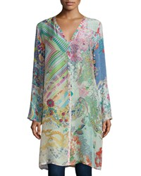 Johnny Was Garden Printed Long Cardigan Women's