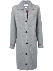 Thom Browne Rwb Tipping Over Washed Duffle Coat Grey