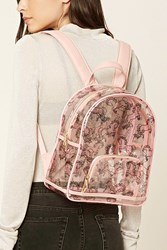 Forever 21 Clear Horse Print Backpack Pink Multi