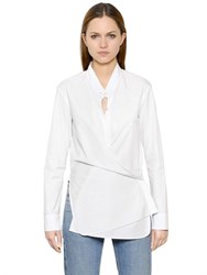 Helmut Lang Lightweight Cotton Poplin Wrap Shirt