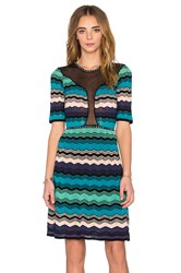 M Missoni Mirco Zig Zag Mini Dress Blue