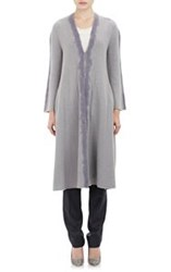 Giorgio Armani Long Sweater Coat Purple Size 42 It