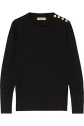 Burberry Button Detailed Cashmere Sweater Black