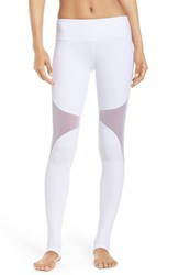 Alo Yoga Women's 'Coast' Mesh Inset Stirrup Leggings White White