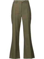 Nina Ricci Cropped Trousers Green