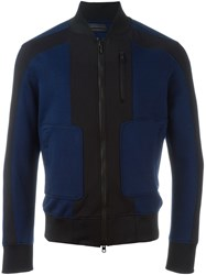 Diesel Black Gold Panelled Zip Sweatshirt Blue