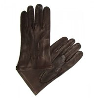 Chester Jefferies Brown Cape Leather Dress Gloves Silk Lined