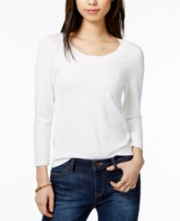 Tommy Hilfiger Scoop Neck Sweater Only At Macy's Ivory