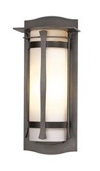 Hubbardton Forge Sonora Large Outdoor Sconce Incandescent Dark Smoke Opal Gray