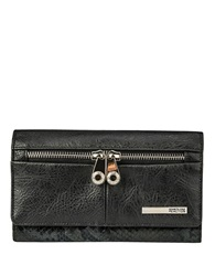 Kenneth Cole Reaction Wooster Street Leather Wristlet Black