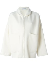 Barena Patch Pocket Coat White