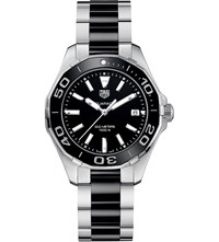 Tag Heuer Way131a.Ba0913 Aquaracer Stainless Steel And Cermic Watch Black